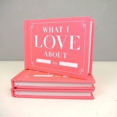 A little 'I love you' book to let you say, in a novel way, how you feel about your loved one. Maximum impact, minimum effort!!It's often the quirky little thoughtful gift that goes down the best! Great for lovers, children, parents - anyone you love. Simply fill in the blanks, and that's it: you have a uniquely expressive gift for the person you love. You can be romantic, irreverent, witty, honest...its up to you. They will love it as it's so thoughtful, funny and clever. It's a ...