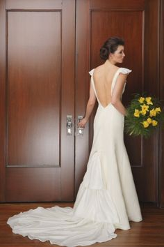 Wedding Dress Couture Ecofriendly Natural Morgan by NaturalBridals, $1290.00