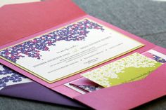 Cascading Hibiscus Tropical Wedding Invitation by JulieHananDesign, $6.00