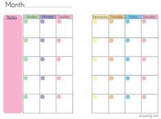 Free Blank Mini Binder Calendar Printables this was perfect for my mini budget binder! Arc Planner, Planner Pages, Life Planner, Printable Planner, Planner Stickers, Monthly Planner, Binder Planner, Budget Binder, Free Printables