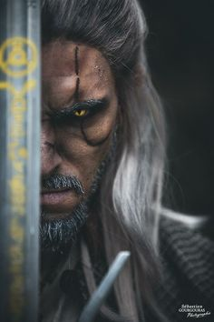 Geralt from The Witcher 3 cosplay by Stylouz cosplay photo by Sebastien Gourgouras photographie Witcher 3 Wild Hunt, The Witcher 3, Geralt Of Rivia Cosplay, Witcher 3 Geralt, Game Costumes, Amazing Cosplay, Halloween Face Makeup, Fictional Characters, Facebook
