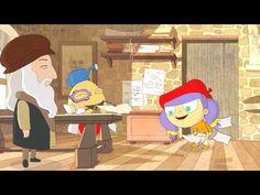 Art with Mati and Dada – Leonardo Da Vinci | Kids Animated Short Stories in English - YouTube