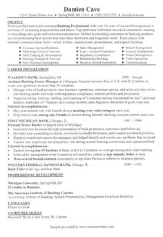 Sample resume for a banker - from ResumeWriters.com