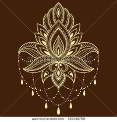 Henna tattoo flower template in Indian style. Tattoo Henna, Lotus Tattoo, Henna Art, Mandala Tattoo, Flower Tattoo Designs, Henna Designs, Flower Tattoos, Flower Henna, Henna Drawings