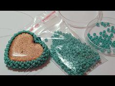 Cuore Incastonato Con Perline 2° Parte / Beaded Heart Part 2 - YouTube
