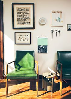 chad kouri and margot harrington's home, via design*sponge.
