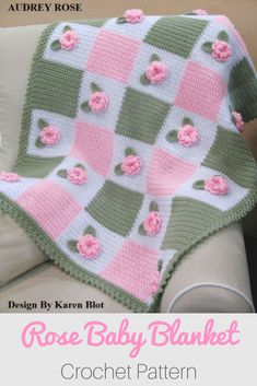What a beautiful crochet baby blanket! Love this! #afflink #crochet #crocheting