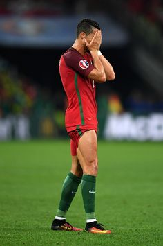 #EURO2016 Cristiano Ronaldo of Portugal reacts after missing a chance during the UEFA EURO 2016 quarter final match between Poland and Portugal at Stade...