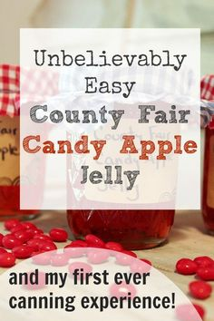 A great, no fuss recipe for first-time jelly canners and a chance to win a Home Canning Starter Kit with everything you need from Bernardin! Canning Tips, Home Canning, Canning Recipes, Apple Jelly, Homemade Jelly, Canned Food Storage, Jam And Jelly, Candy Apples, Preserving Food