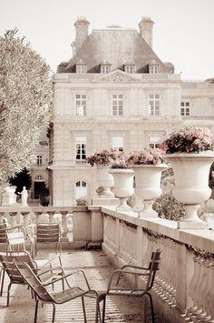 Beautiful view of Luxembourg Garden Paris