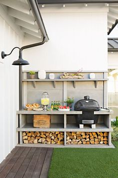 outdoor built-in kitchen space // Outdoor Kitchen Ideas & Inspiration | Apartment Therapy
