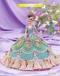 Sweet Pea, Annie's Glorious Gowns Flower Garden Collection crochet patterns