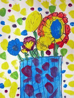 Art BKE: Kindergarten - Matisse Flowers - 3rd Quarter 2012