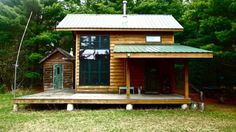 diy off grid tiny cabin in wisconsin thomas thornquest 600x337 DIY 704 Sq. Ft. Hand Built Off Grid Tiny Cabin