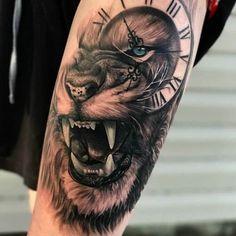 Lion Tattoo Sleeves, Best Sleeve Tattoos, Tattoo Sleeve Designs, Tattoo Designs Men, Lion Sleeve, Animal Sleeve Tattoo, Lion Forearm Tattoos, Lion Head Tattoos, Mens Lion Tattoo