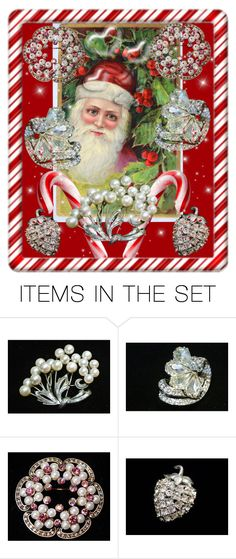 """Have A Very Jewelry Christmas"" by pattysporcelainetc ❤ liked on Polyvore featuring art and vintage"