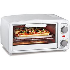 @Overstock.com - Proctor Silex 31116 4-slice Toaster/ Broiler Oven - Proctor Silex toaster/broiler oven has an extra-large interiorKitchen appliance features a 15-minute timer with automatic shutoff and ready bellToaster is great for cooking or warming biscuits, rolls, sandwiches and leftovers  http://www.overstock.com/Home-Garden/Proctor-Silex-31116-4-slice-Toaster-Broiler-Oven/4424265/product.html?CID=214117 $34.49