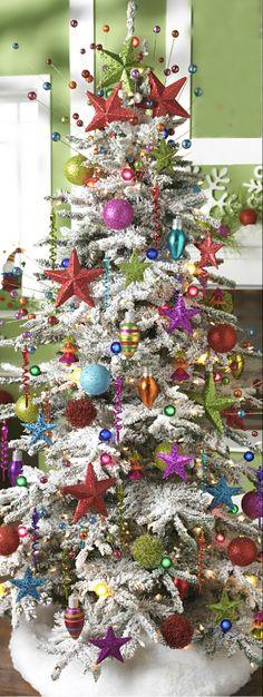 Christmas Tree ● Colorful Stars