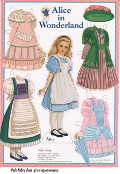 ALICE Paper Doll by Peck Aubry