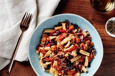 Pasta With Spicy Sausage, Radicchio, and Sun-Dried Tomatoes / Photo by Chelsea Kyle, Food Styling by Ali Nardi