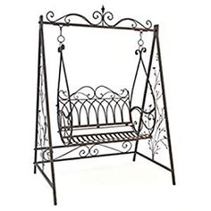 Ultimate relaxing seating option in your garden with a canopy swing seat. From steel tubular contruction, authentic antique designs to the tradition wooden frame varieties. Outside Swing, Outdoor Swing Seat, Garden Swing Seat, Garden Canopy, Garden Chairs, Garden Furniture, Canopy Swing, Swinging Chair, Stylus