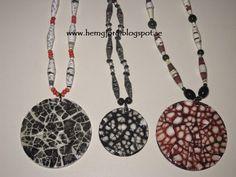 Egg shell jewelry! De sista dagarna har jag haft produktion av dessa halsband. När man gör många inser man hur mycket jobb...