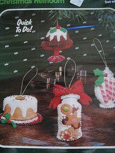 Bucilla apliques de fieltro Holiday Tree Kit de ornamento de Navidad, Regalos, tratar, # 48988