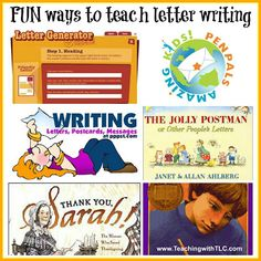 Teaching with TLC: FUN Ways to Teach Letter Writing