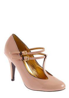 Gussied Up Heel via Mod Retro Vintage Heels. Shoe Boots, Shoes Heels, High Heels, Work Heels, Nude Shoes, Stilettos, Crazy Shoes, Me Too Shoes, Modcloth Shoes