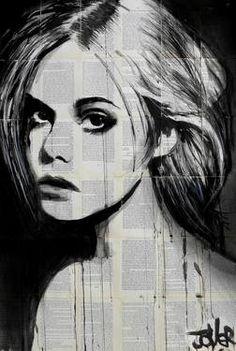"Saatchi Art Artist Loui Jover; Drawing, ""whispers"" #art"