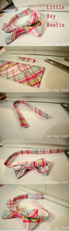 DIY Tutorial: Bows and Ties / DIY Little Boy Bow Tie - Bead&Cord