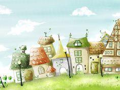 рисунки сказочного города для детей: 19 тыс изображений найдено в Яндекс.Картинках