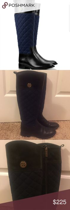 Tory burch Rosalie quilted riding boots Gently used great condition riding boots. Updated with better photos! Tory Burch Shoes
