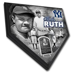 """Babe Ruth New York Yankees 11.5"""" x 11.5"""" Home Plate Player Plaque - $39.99"""