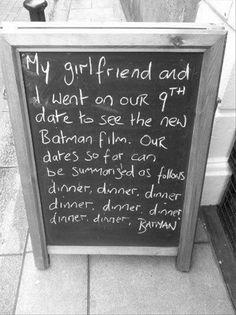 Funny Chalkboard Signs- Batman!
