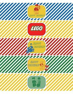 whatpoppelinesees: classic lego inspired printable - New Ideas Lego Movie Party, Ninjago Party, Lego Birthday Party, Boy Birthday Parties, Happy Birthday Banners, Lego Parties, Lego Ninjago, 8th Birthday, Bolo Lego