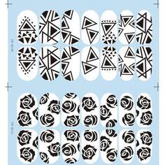 Nail-Art-Stickers-Fashionable-Rosette-Irregular-Triangles-Patterned-1-sheet