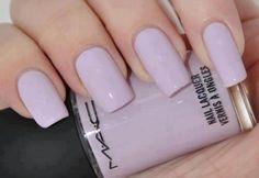 lilac nails - good length for false nails