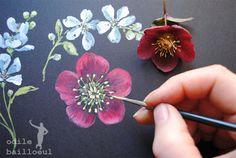 Odile Bailloeul - An accomplished artist- Painting Flowers - http://odilebailloeul.blogspot.fr/