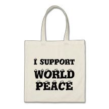 I SUPPORT WORLD PEACE Tote Bag, Inspirational http://www.zazzle.com/i_support_world_peace_tiny_tote_bag_inspirational-149590782522099582?rf=238290304201005220 #bag #peace