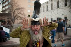 """""""Vote for me, I'm running for president of your nightmare."""" Actually, Vermin Supreme has run in numerous elections since he began his gonzo political career in the late '80s. In spite of promoting essential measures like mandatory tooth-brushing and zombie apocalypse awareness, he is not seen as a serious contender for the 2012 Democratic nomination."""