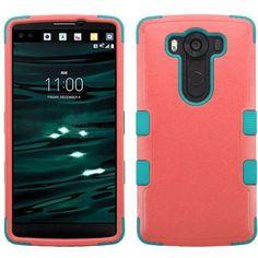 MYBAT TUFF Hybrid LG V10 Case - Baby Red/Tropical Teal