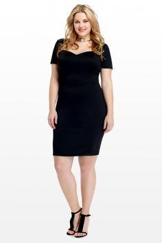 Plus Size Audrey Sweetheart Scuba Dress | Fashion To Figure