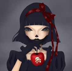 """""""Poison Apple,"""" by ! LOVE her digital art! Disney Gone Bad, Editorial Photography, Fashion Photography, Photography Magazine, Pop Culture Art, Beauty Editorial, Pretty Cool, Book Art, Cool Photos"""
