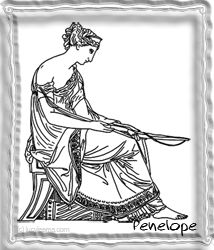 Ancient Greek Mythology Clipart Penelope  The Odyssey by Homer at www.lucylearns.com