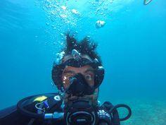 Sub scuba diving selfie for the eudi show ' s eudi selfie contest