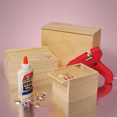 Slide Top Wooden Box Set