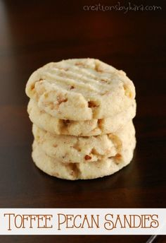 Pecan Sandies with Toffee- So much tastier than store bought!