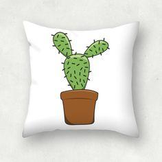 """Cactus"" Cojín cuadrado por Patricia Ávalo"