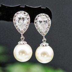 """Las bodas de Laura: Pendientes de novia """"Bride Earrings"""""""